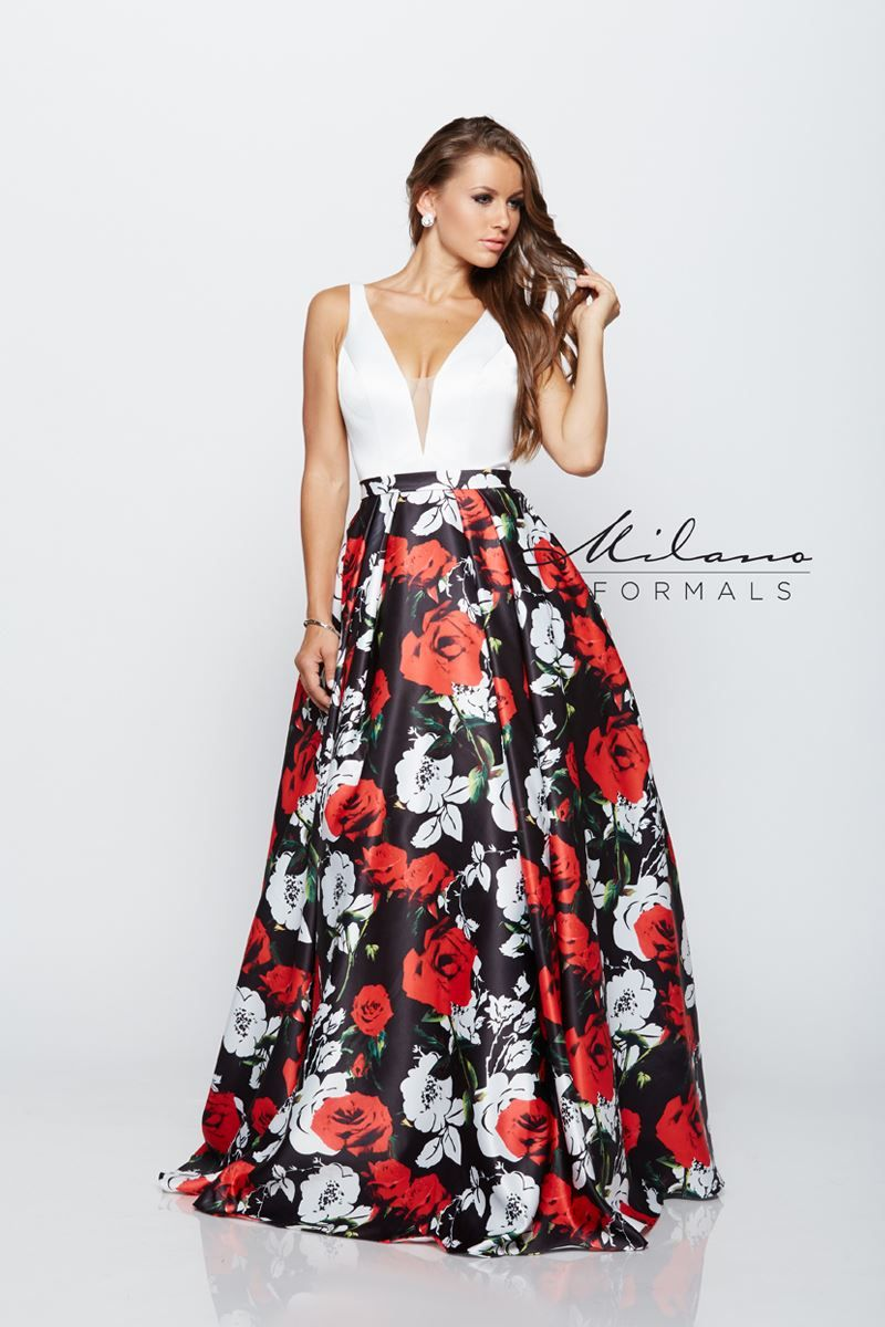 We flowers especially this white red u black ballgown style