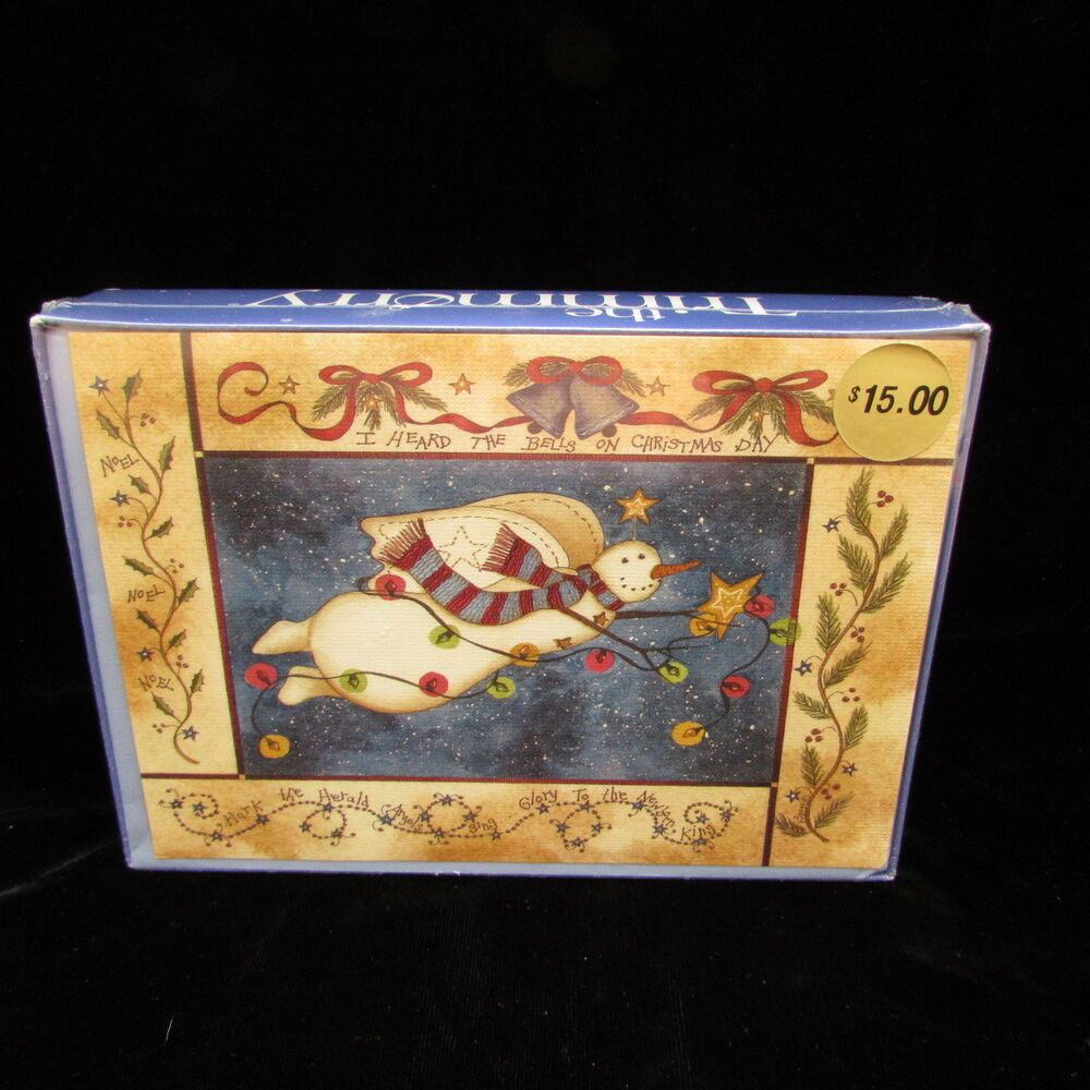Angel Snowman 18 Christmas Cards With Sentiment Noel Hark Herald The Trimmerry #TheTrimmerry #Christmas