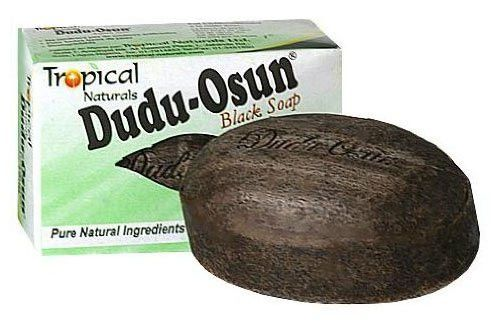 Black Soap Bar (Dudu Osun): What an unfortunate name for such a great product. Probably would buy it ... then stick it in a Dove soap box...lol