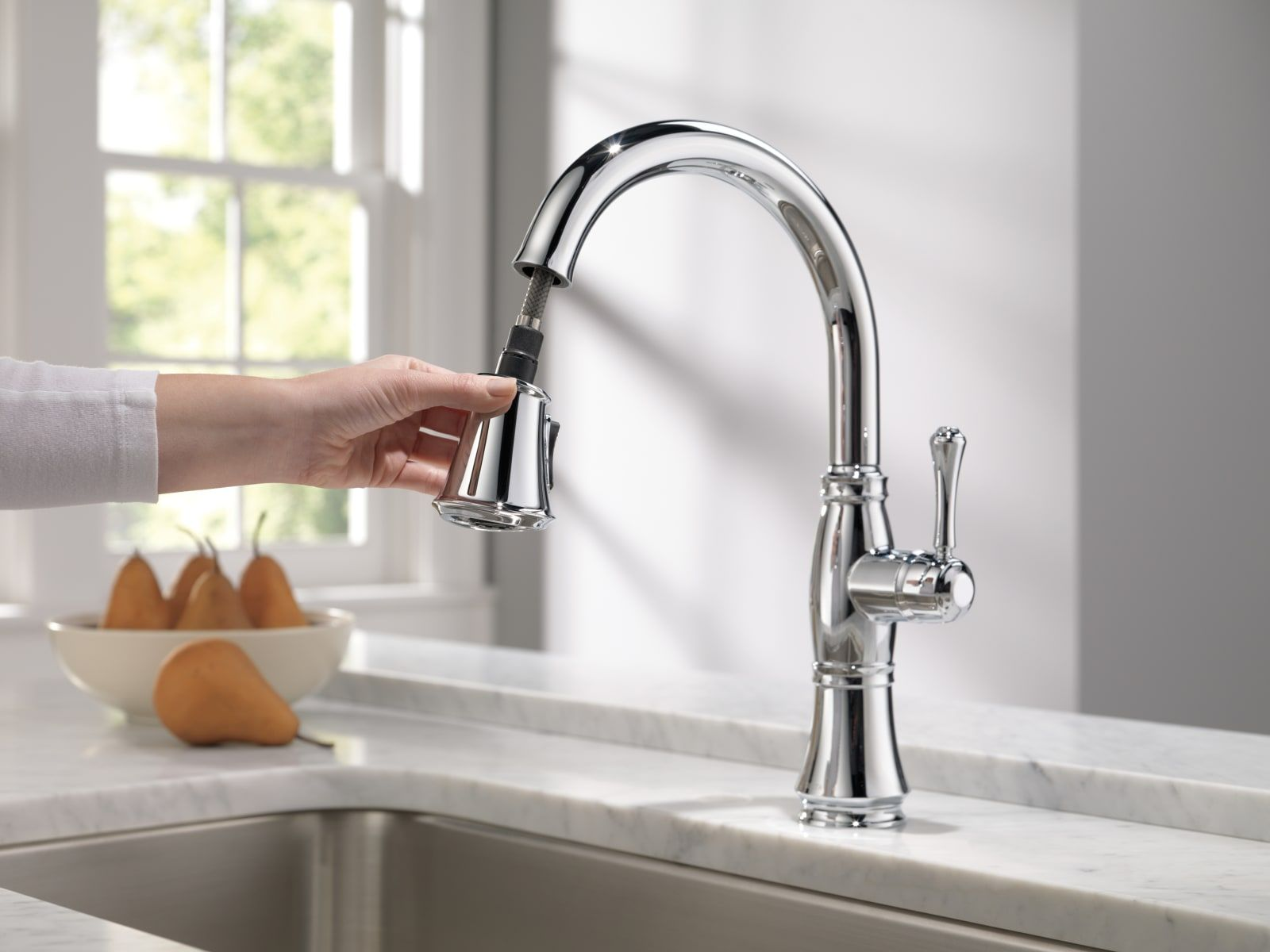Delta 9197 Ar Dst Cassidy Pull Down Kitchen Build Com In 2021 Kitchen Faucet Kitchen Style Brushed Nickel Kitchen Faucet Delta brushed nickel kitchen faucet