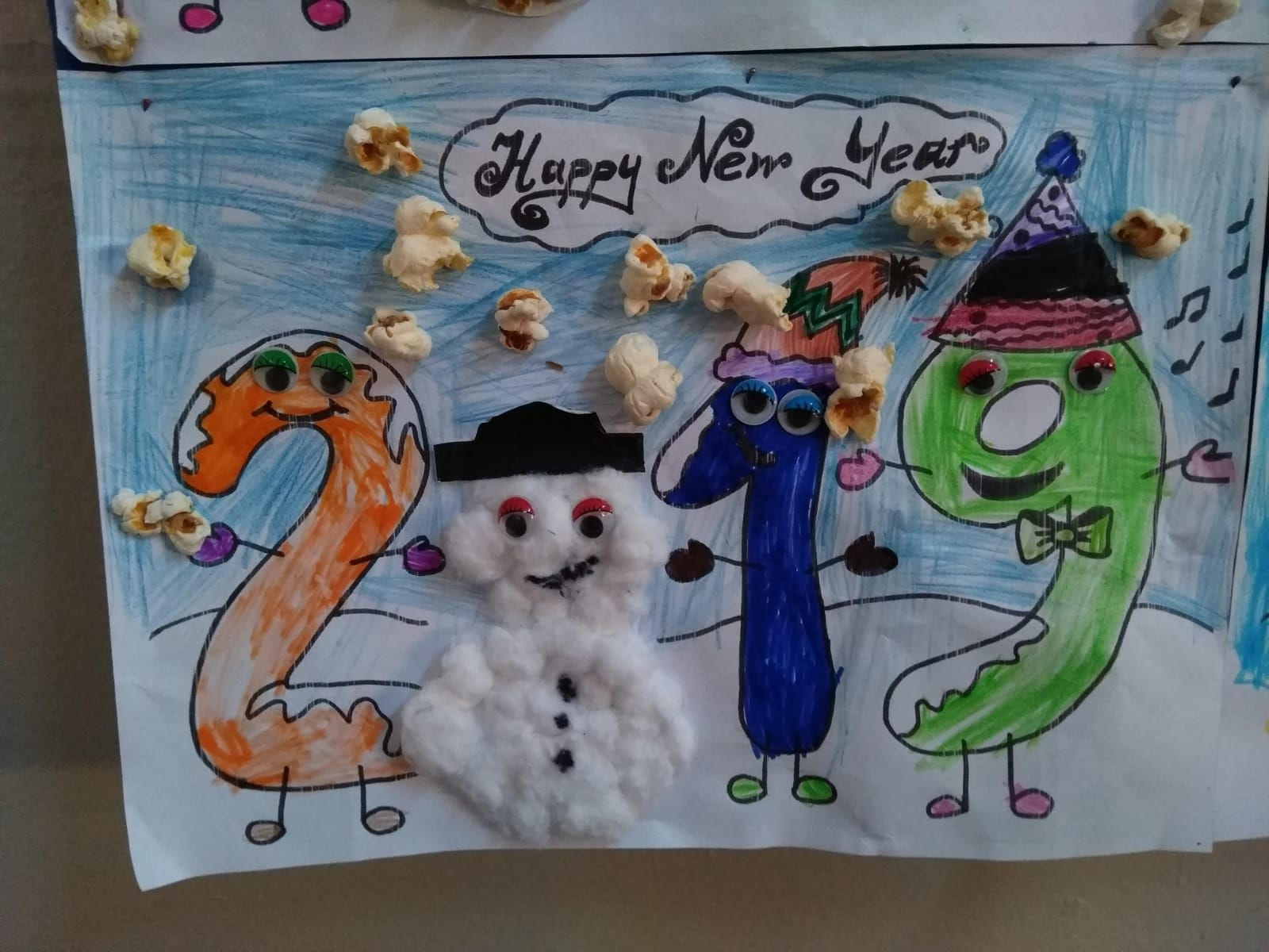 Happy New Year Craft Idea - Preschool and Kindergarten ...