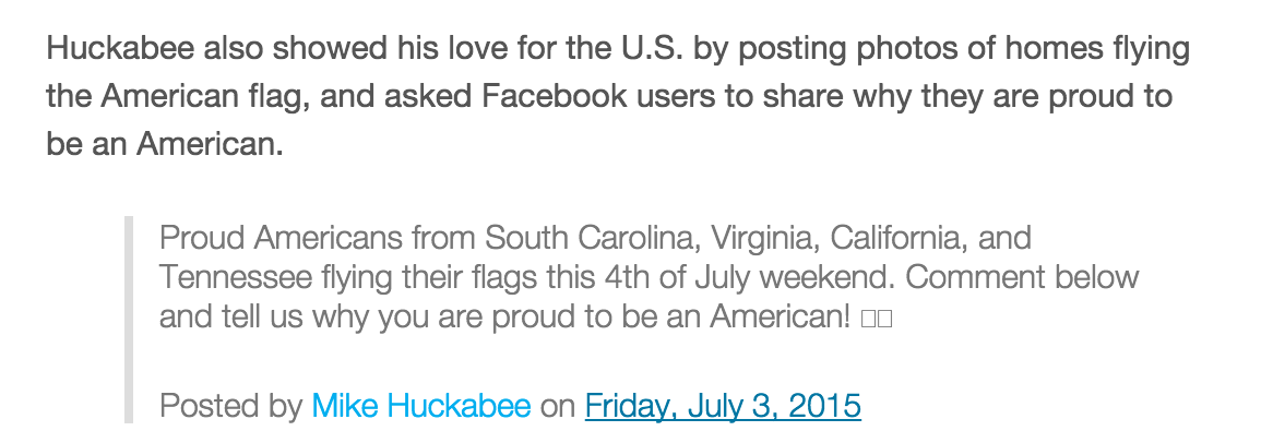 SOCIAL MEDIA IDEA: On 4th of July and Flag Day ask people to