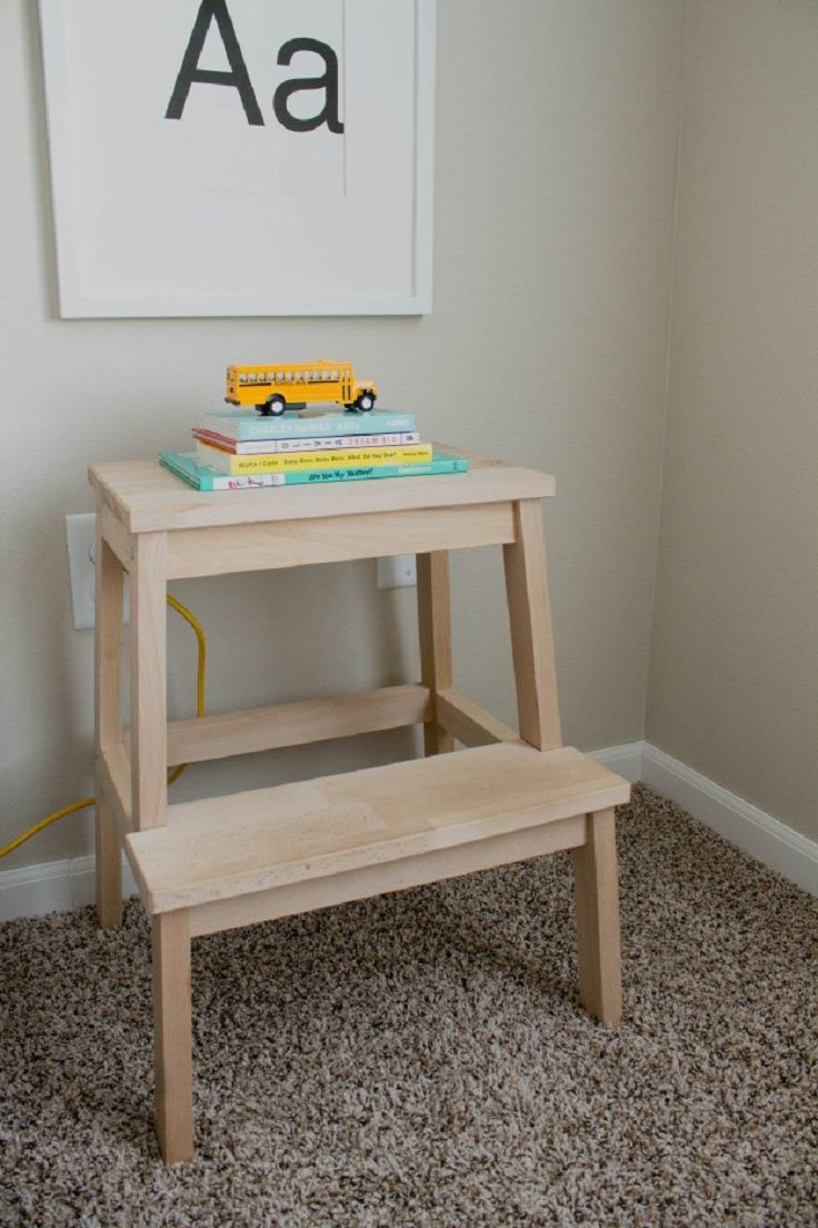 Terrific Diy Ikea Stool To Nightstand 14 Easy And Cheap Diy Ibusinesslaw Wood Chair Design Ideas Ibusinesslaworg