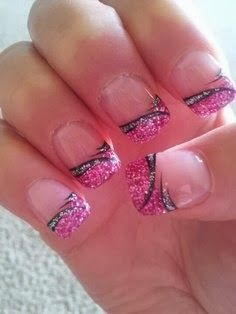 Nail Art Gallery Pink Nail Art Photos 2014 Nails Pinterest