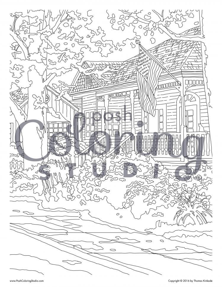 Hometown Pride Coloring Page Posh Coloring Studio Hometown Pride Hometown Coloring Pages
