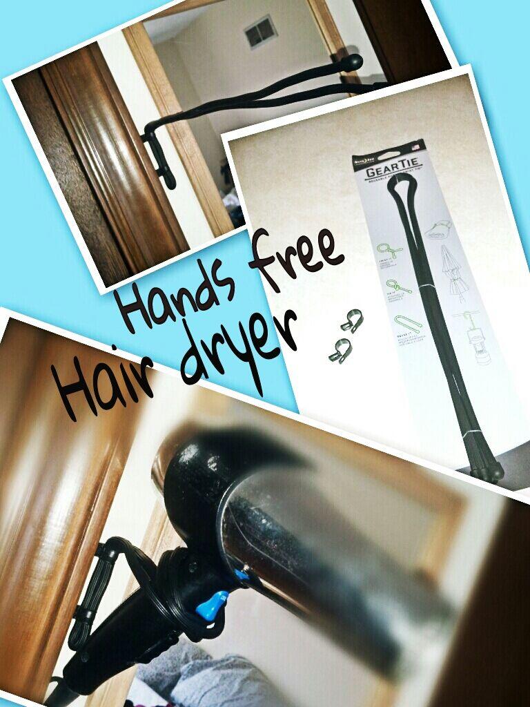 DIY Hands Free Hair Dryer Holder $7: Items needed: 1- 32\