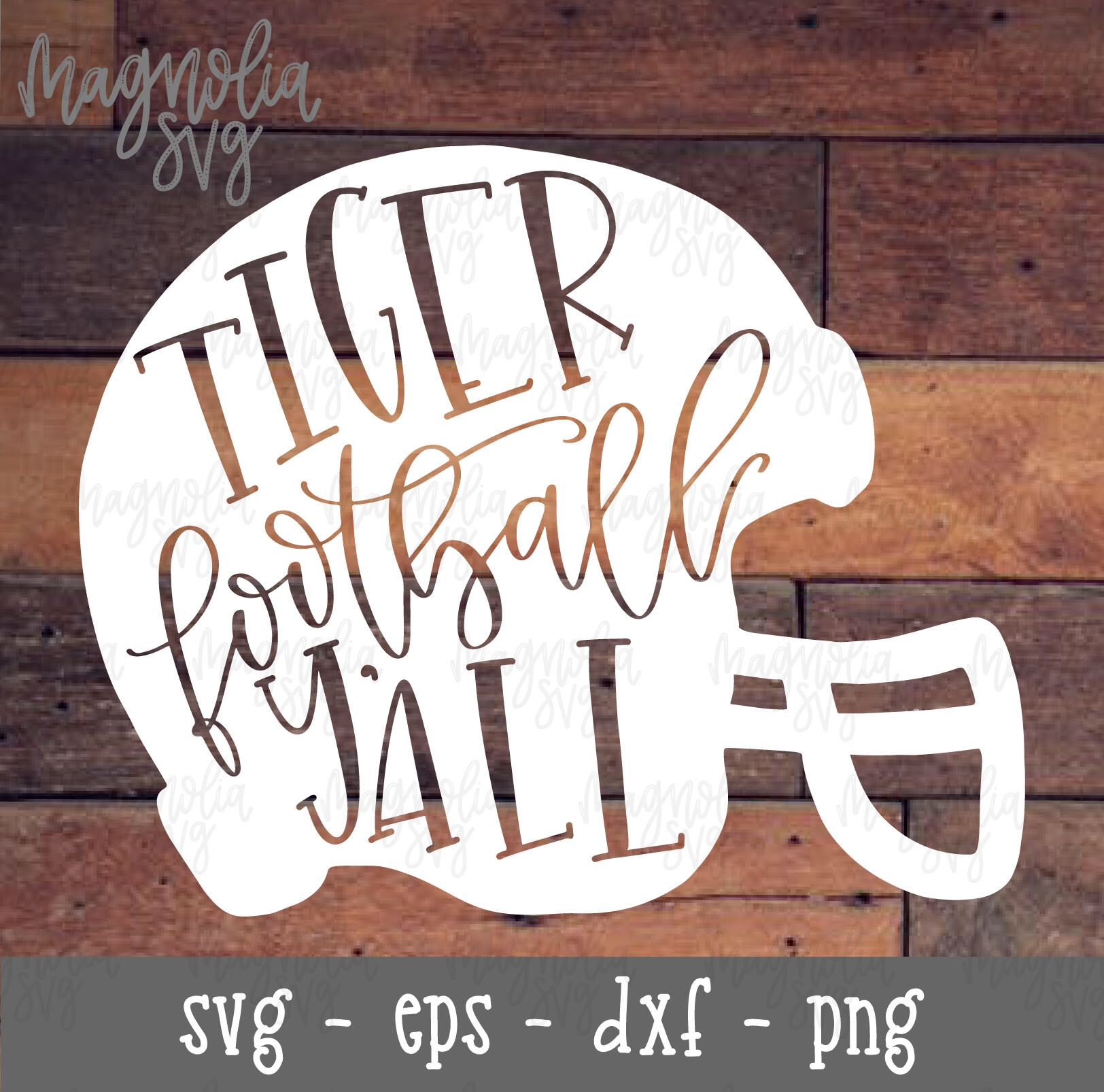 Football Helmet SVG, Football svg, Tiger Football Y'all