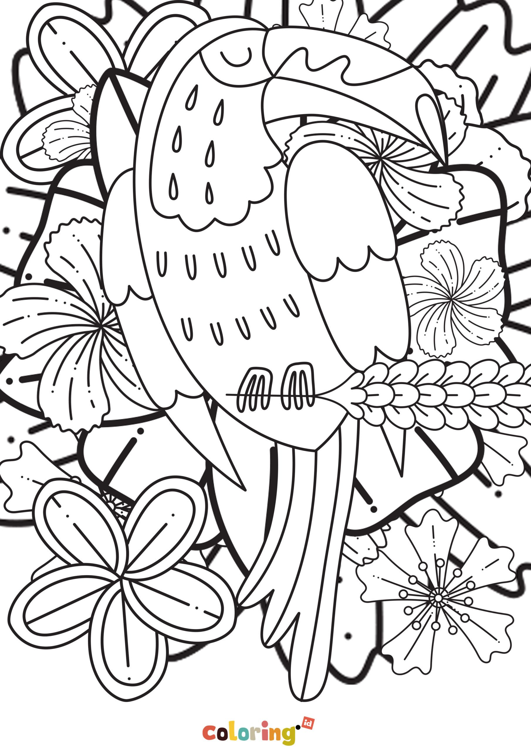 Free Printable Mandala Bird Coloring Page For Kids Free Printable Of Mandala Coloring Pages For All Bird Coloring Pages Mandala Coloring Pages Coloring Pages