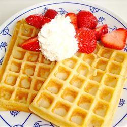 Waffle batter self raising flour