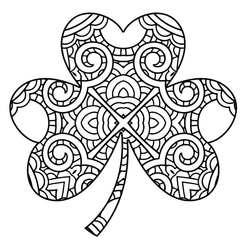 Shamrock Template Free Image Download Printable Stencils Adult