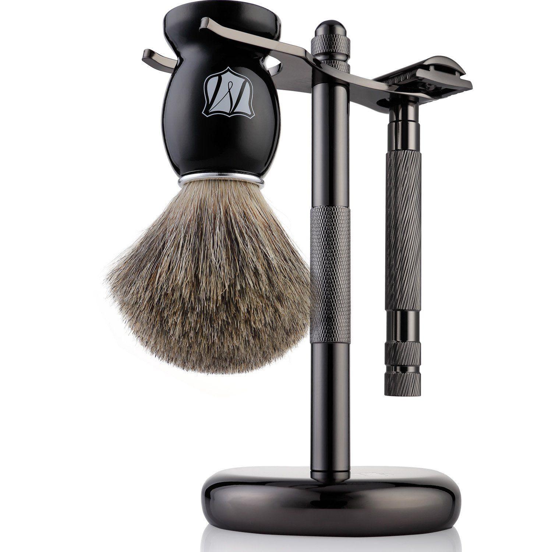 Fento Pure Badger Hair Shaving Brush and Chrome Razor