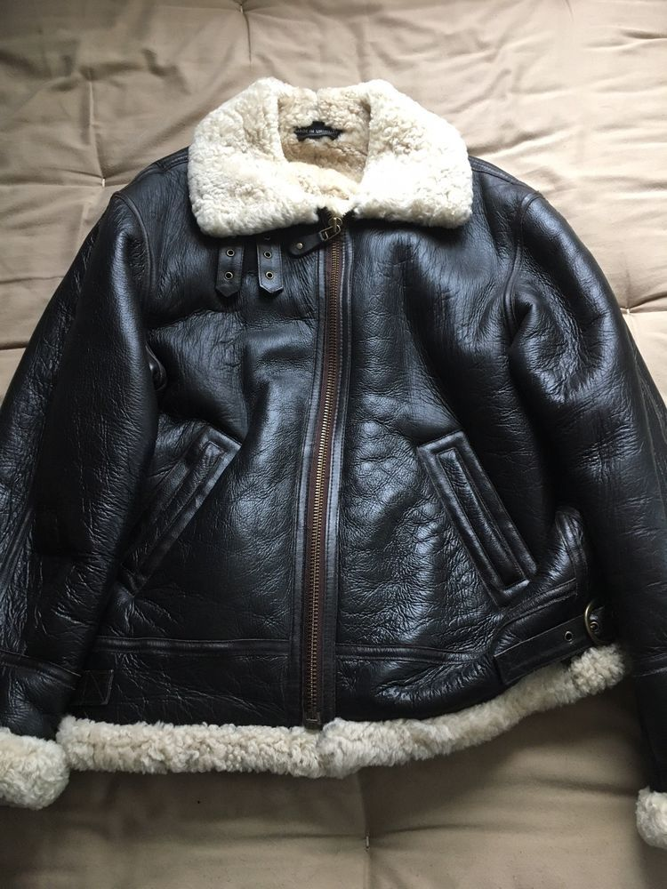 Men S Shearling Bomber Jacket Cabela S M In 2019 Awesome Leathers