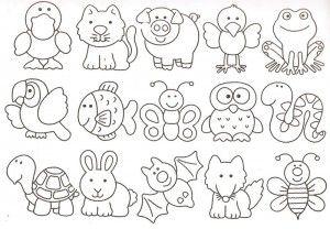 Cute Animals Digital Stamps Part 2 Desenhos Moldes Animais