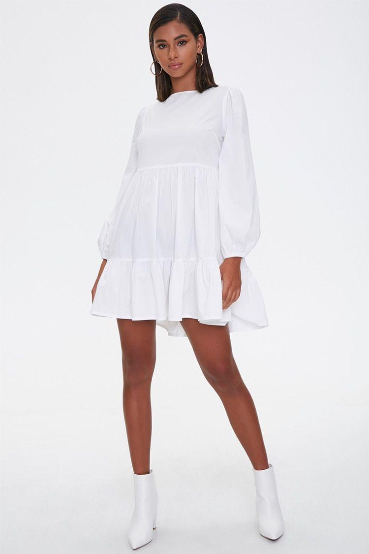 Tiered Peasant Mini Dress Forever 21 Mini Dress Dresses Woven Dress [ 1125 x 750 Pixel ]