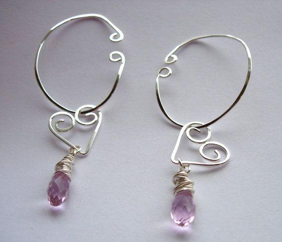 Hoop Style Ear Cuffs Ear Wraps Earcuff Non Pierced by jhammerberg