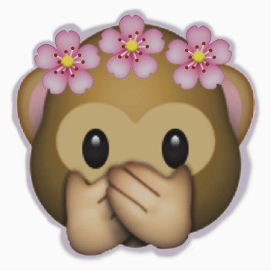 Emoji Monkey Flower Crown Edit