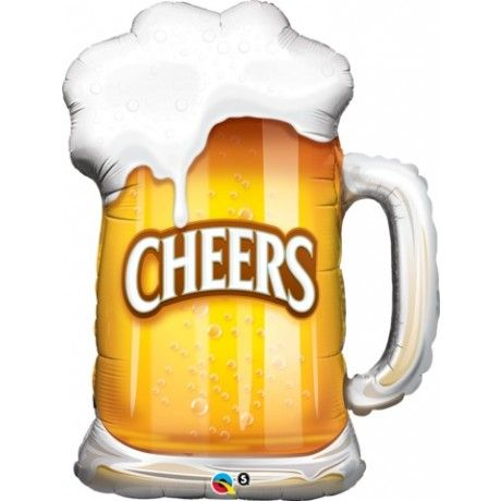 Cheers Big Ears A Tall Cool Beer Shaped Balloon Suitable For Birthdays Oktoberfest Or Even Australia Day Beer Mug Beer Gold Letter Balloons