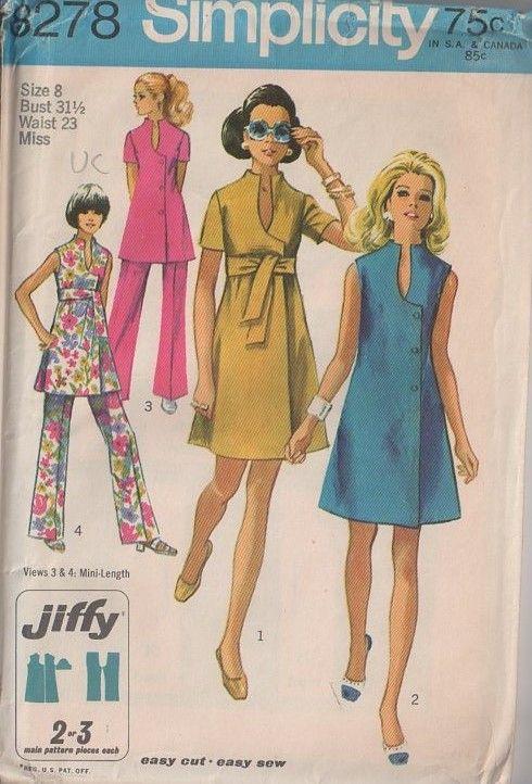 MOMSPatterns Vintage Sewing Patterns - Simplicity 8278 Vintage 60\'s ...