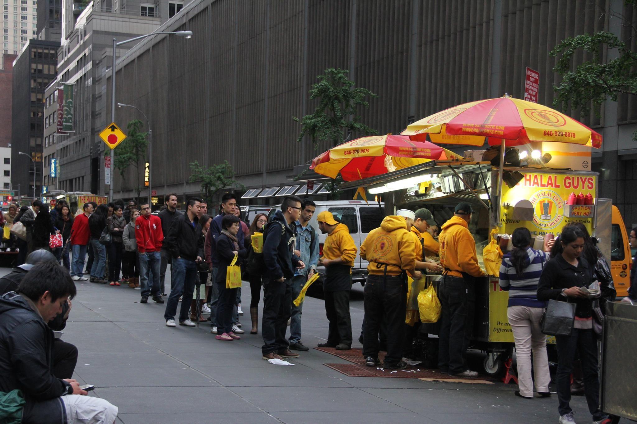 Halal Gyro Platter Cart Nyc Halal Nyc Street Nyc