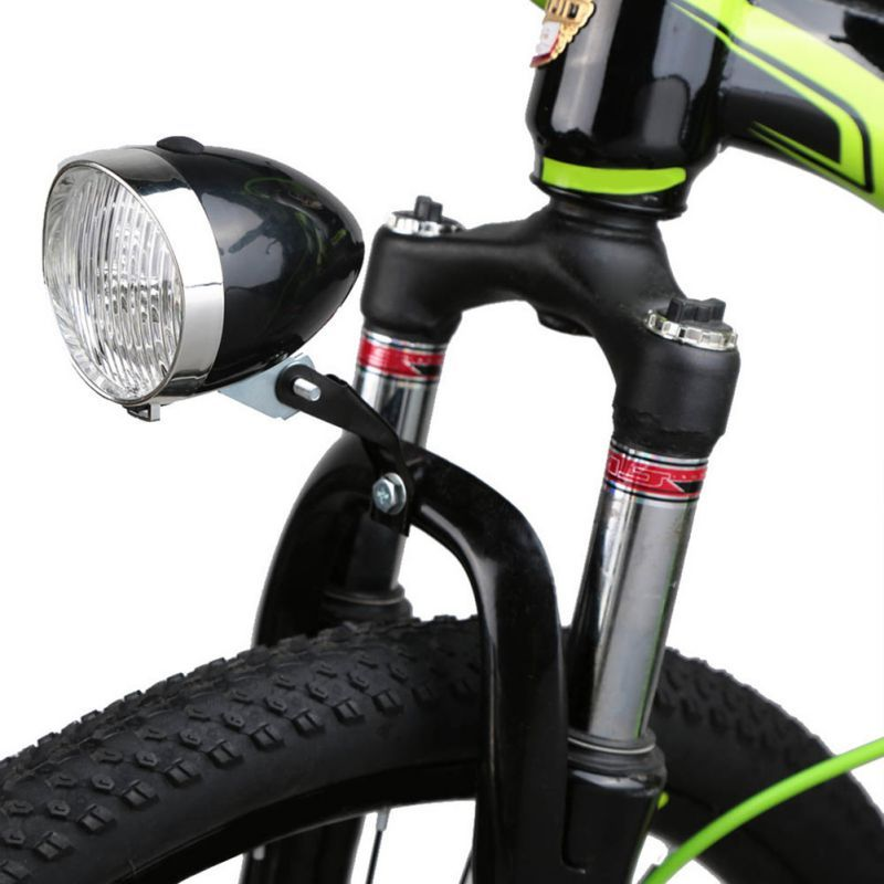 4cf7eca7d01 Bike Light Retro 3 LED Front Light Bicycle Vintage Flashlight Lamp Power by  3*AAA Battery