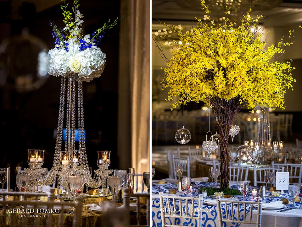 Sheraton society hill wedding annie albert reception reception decor centerpiece arrangements by frannies fancies candles chandeliers wedding at sheraton junglespirit Image collections