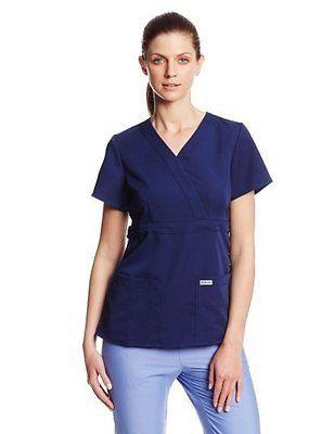 Grey's Anatomy 4153 3 Pocket Mock Wrap (M, Indigo)