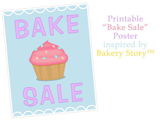 bake sale poster inspired by bakery story bake sale flyers free