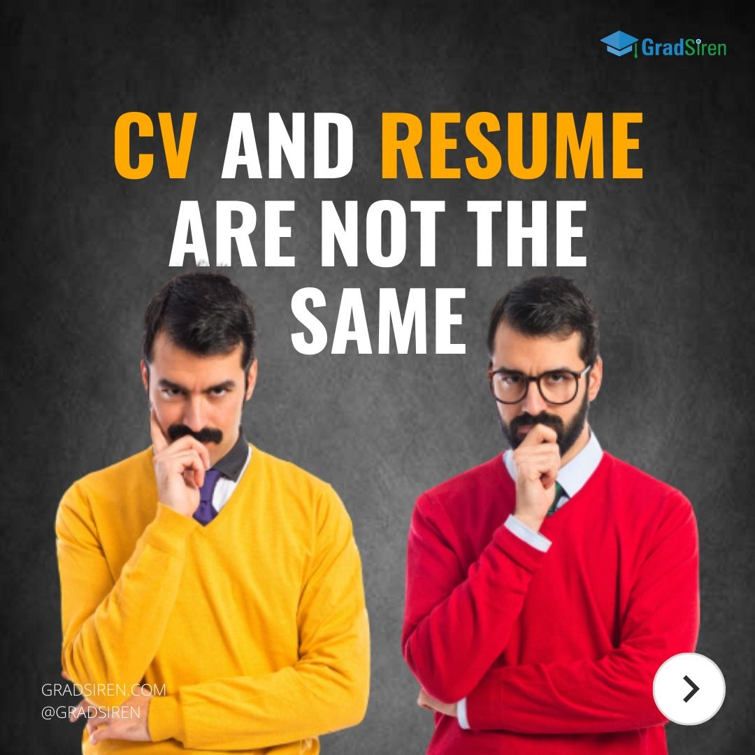 Cv and resume are not the same in 2020 job posting job