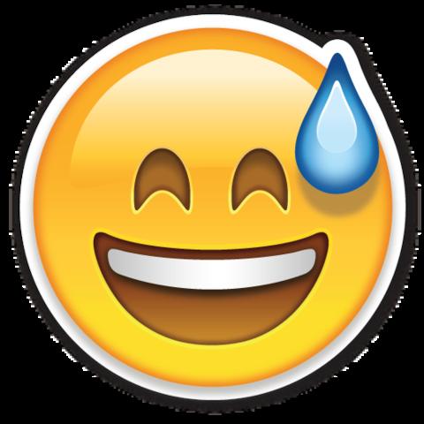 Smiling Face With Open Mouth And Cold Sweat Emojistickers Com Emoji Tumblr Fotos De Adesivos Plaquinhas Divertidas Para Festa