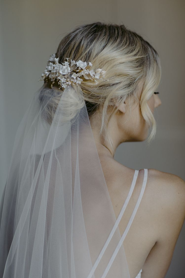 BOUQUET | floral bridal hair piece - TANIA MARAS | bespoke wedding headpieces + wedding veils
