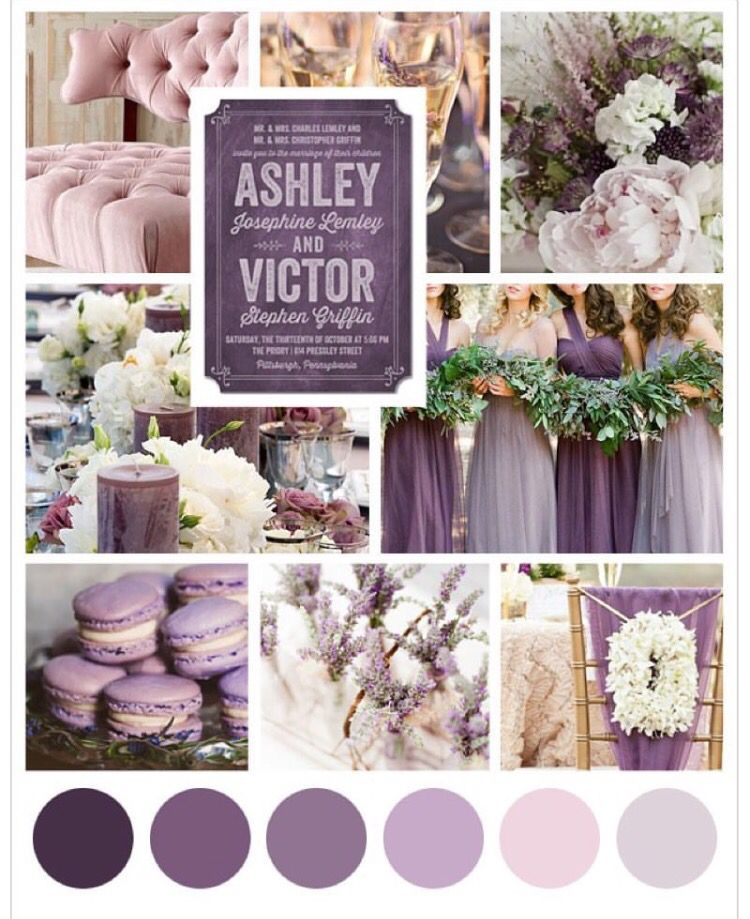 Color Palette Purple Wedding Theme Wedding Themes