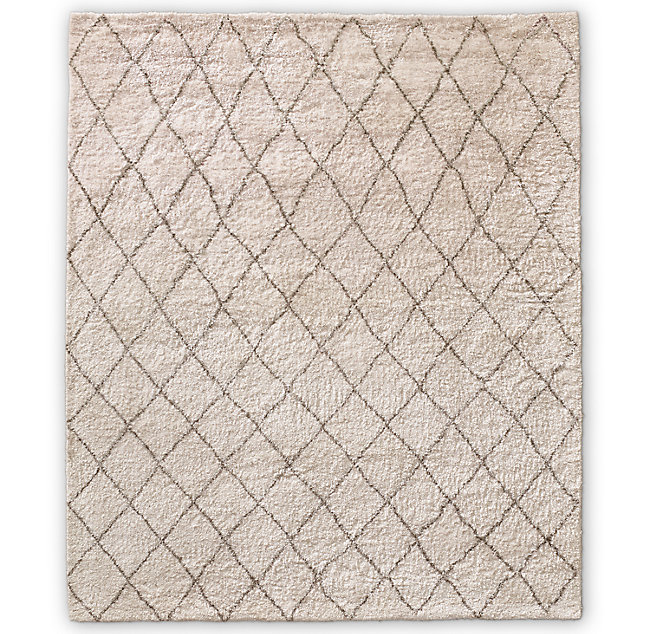 Sketched Diamond Hand Knotted Shag Rug In 2020 Rug Pattern Custom Size Rugs Where To Buy Carpet