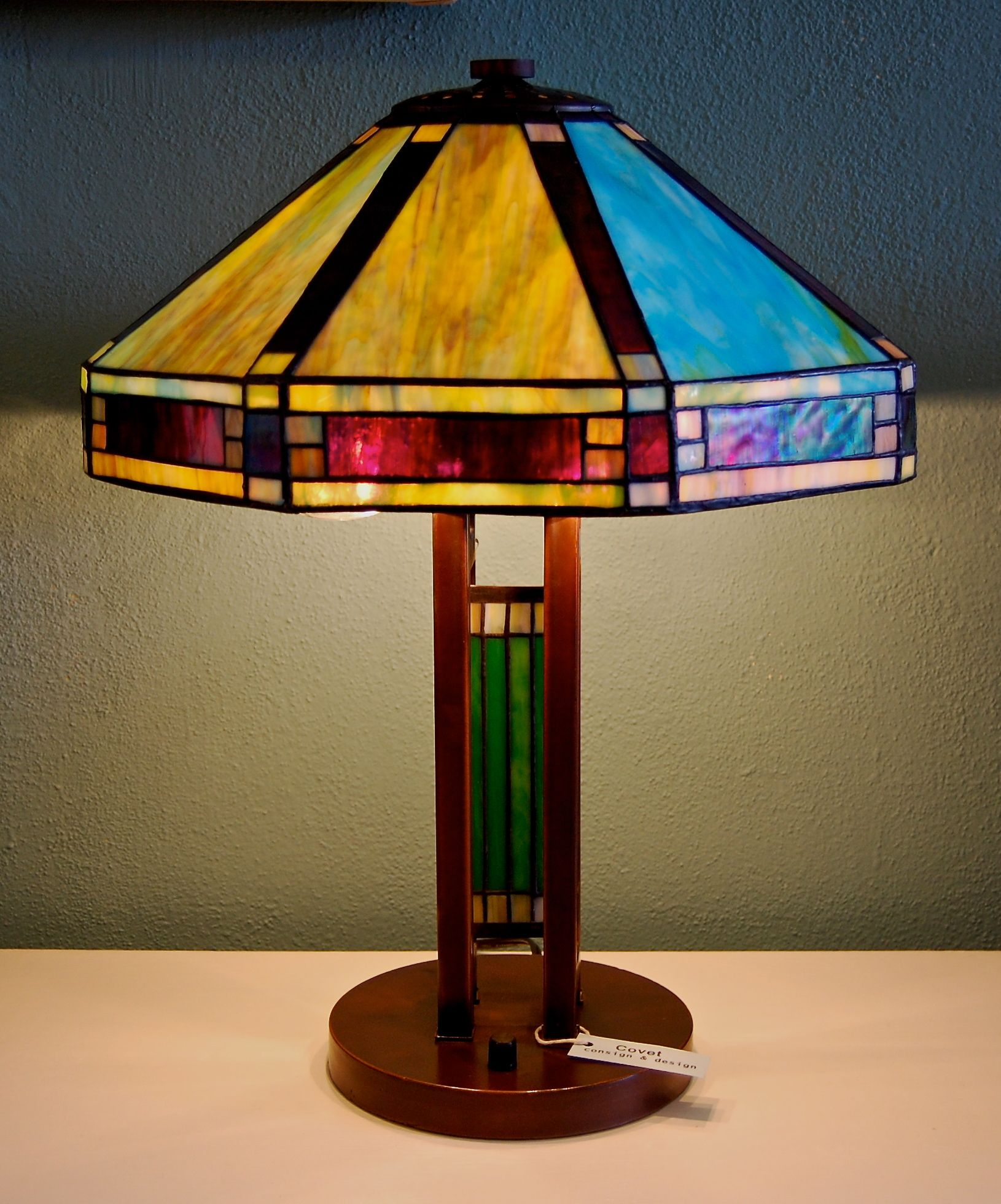 Mission Style Stained Glass Lamp | ~ Covet Consign ...