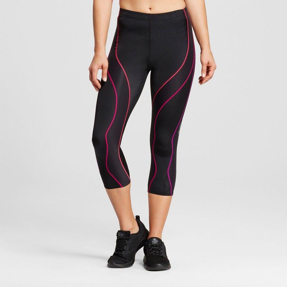 CW-X - Women's Hip and Quad Support PerformX 3/4 Tights - Black/Purple Gradation L