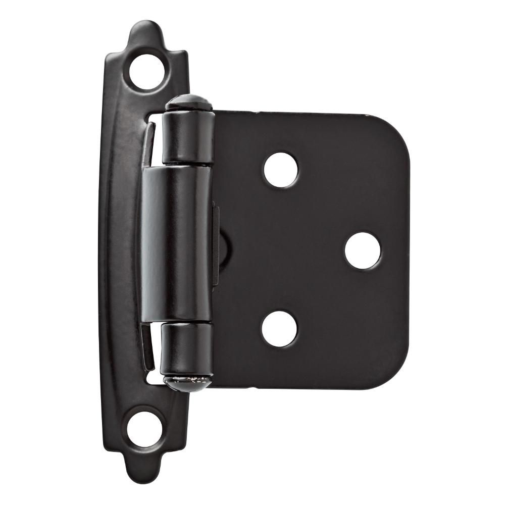 Liberty Matte Black Self Closing Overlay Cabinet Hinge 1 Pair H0103az Fb O3 Overlay Cabinet Hinges Hinges For Cabinets