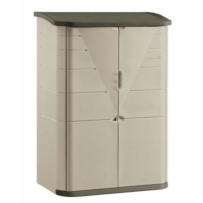 rubbermaid 4 ft. 7 in. x 2 ft. 7 in. large vertical resin storage ...