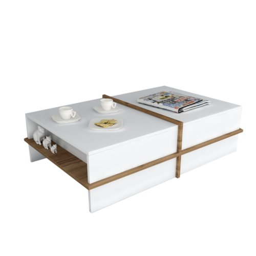 17 Stories Upper Swainswick Coffee Table With Storage Coffee