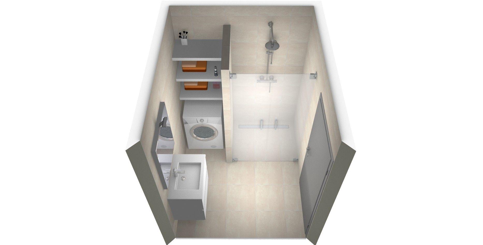 Voorbeelden van een kleine badkamer met wasmachine bathrooms