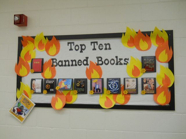 Image result for banned book bulletin board