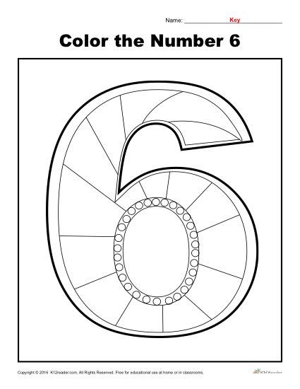 Color The Number 6 Preschool Number Worksheet Numbers Preschool Preschool Worksheets Letter Worksheets For Preschool