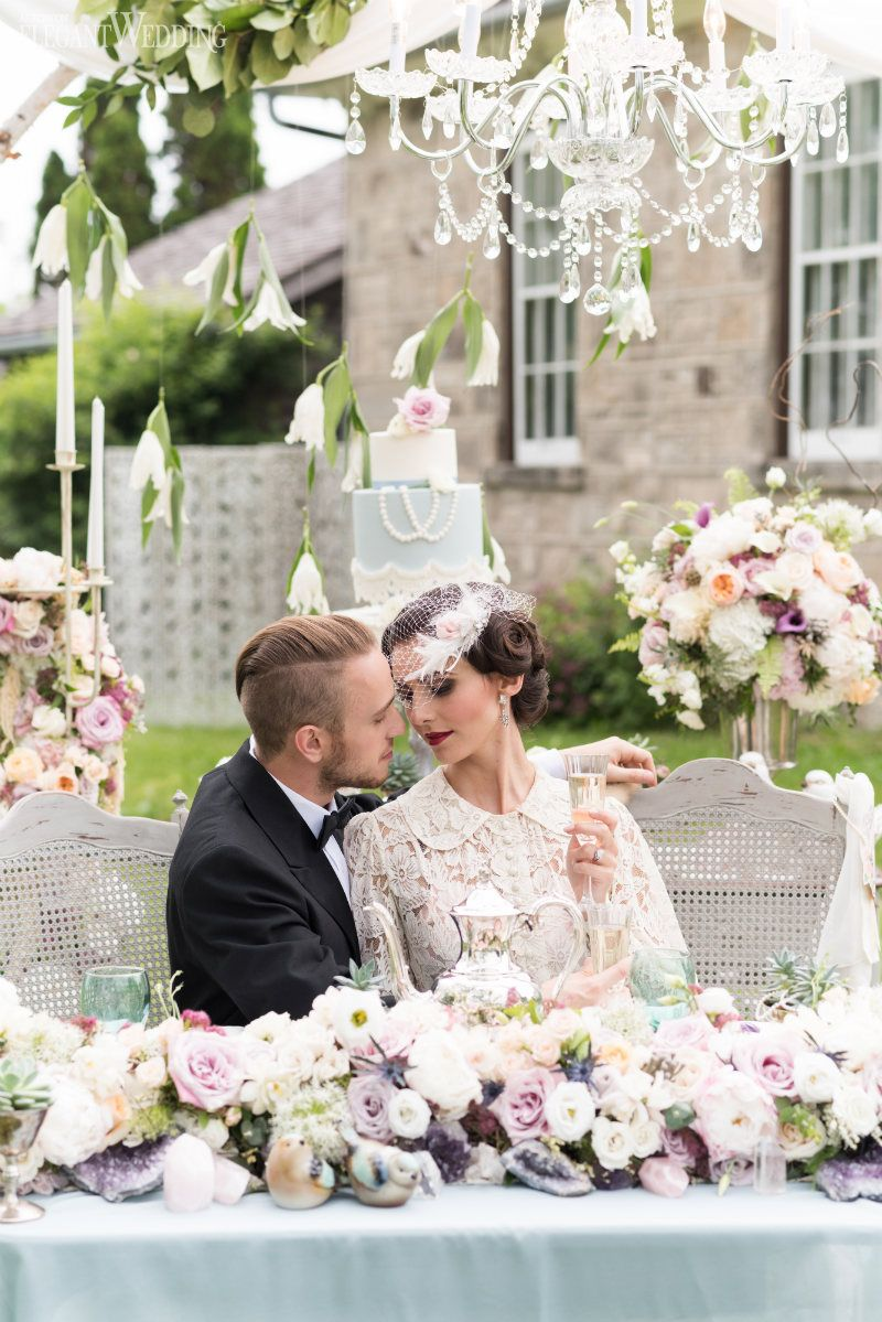 This Authentic Wedding Inspiration Shoot Is Rooted With Vintage Furniture Decor And Fashion To Depict A Young Couples Romantic Journey Before