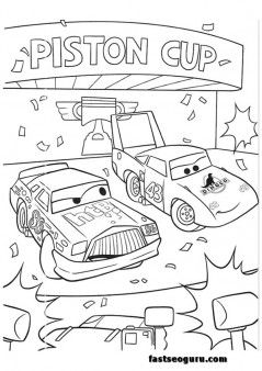 Cars 2 Race Coloring Pages