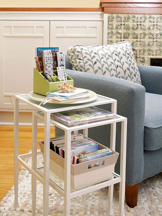 14 Ways to Amp Up Living Room Storage with Furniture Living room