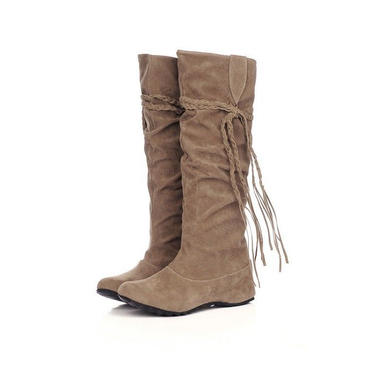 Cheap Women's Boots, Buy Directly from China Suppliers: Women boots Ribbons Solid Mid-Calf Autumn boots for women 2015 New arrived Low heels Round toe Fashion winter boo