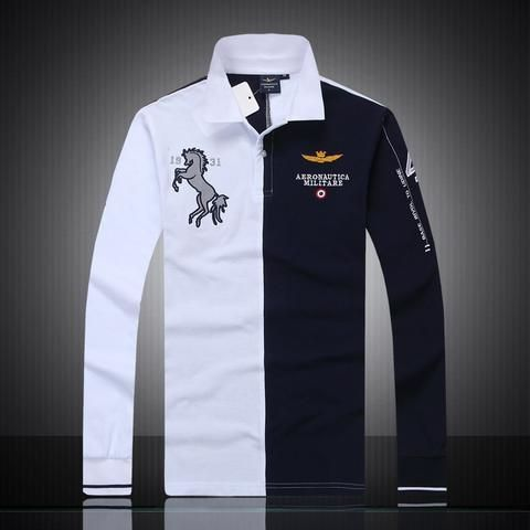 3bfef5ac08e 2018 new Fashion casual brand mens summer 100% cotton long sleeve Air force  one polo