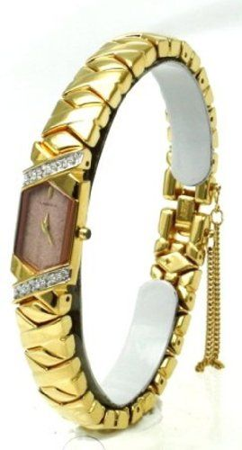 Seiko Lassale SEIKO Top of the Line Diamonds Sapphire Crystal and Safety Chain 22 k Gold Finish all Made in Japan Womens Watch *** Details can be found by clicking on the image.Note:It is affiliate link to Amazon.