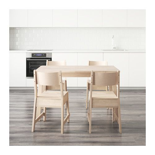 Norrker norrker birch apartments and house norrker norrker table and 4 chairs white birch white birch workwithnaturefo