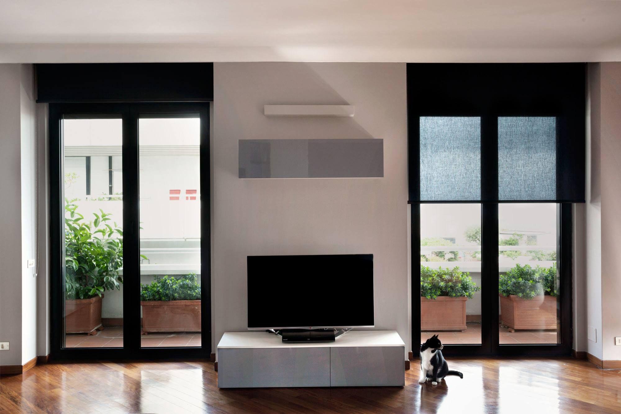 Infissi Con Tendine Interne finestre #alluminio anodizzato con #tende filtranti (dengan