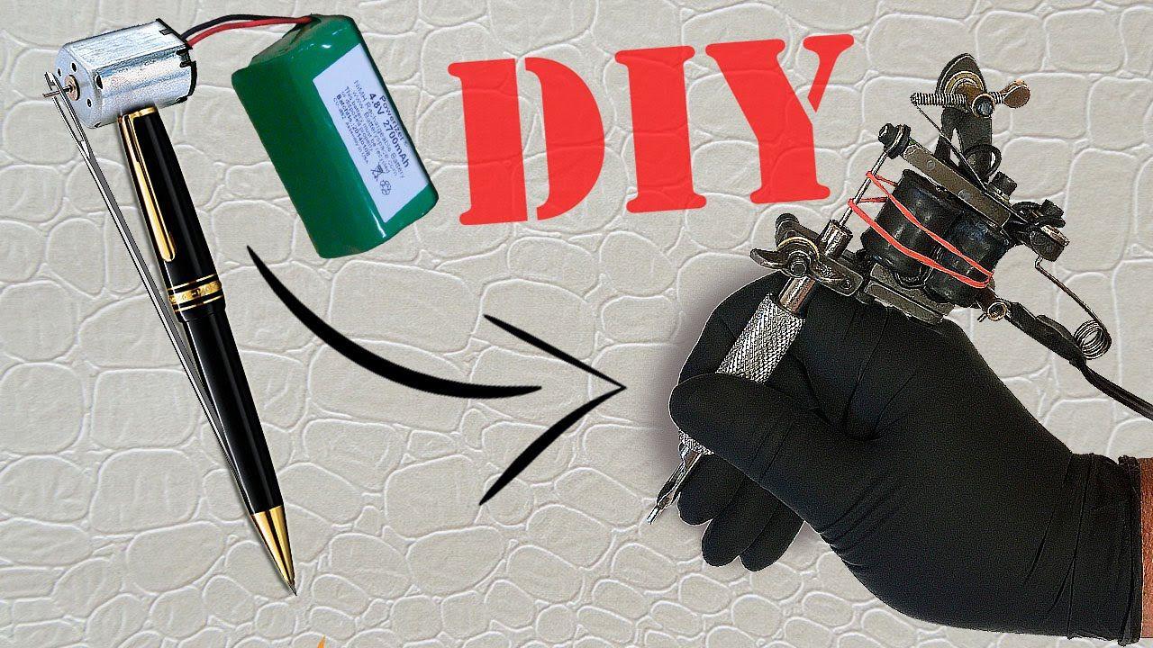 How To Make A Mini Tattoo Gun Tattoo Machine Tutorial My Body