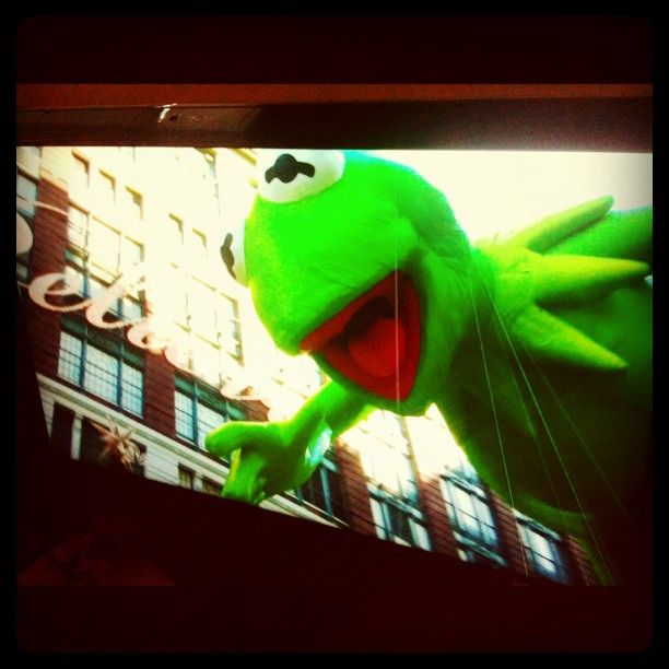 Kermit is in the house!  2012 Macy's Thanksgiving Day Parade.  Today Show cam.